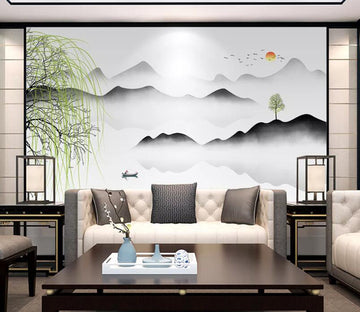 3D Sun Willow WC1802 Wall Murals