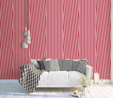 3D Red Lines WC1776 Wall Murals