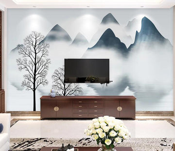 3D Cloud Mountain WC1804 Wall Murals