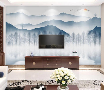 3D Mountain Forest WC1800 Wall Murals