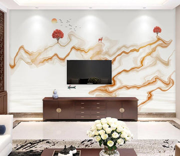 3D Abstract Tree WC1807 Wall Murals