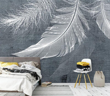 3D White Feathers WC1797 Wall Murals