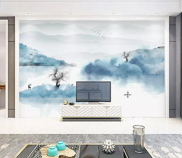 3D Fisherman River WC1815 Wall Murals