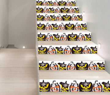 3D Vicious Black Pumpkin 646 Stair Risers