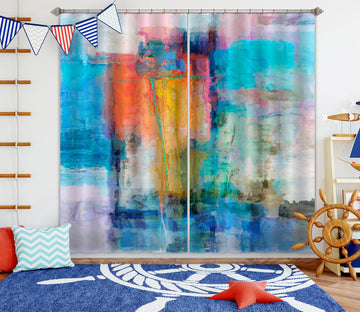 3D Sunset Sea 207 Michael Tienhaara Curtain Curtains Drapes