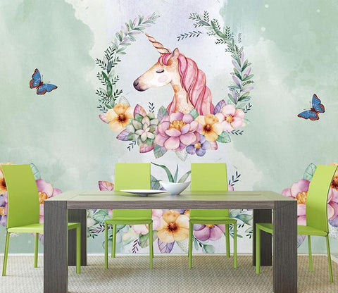 3D Unicorn 195 Wall Murals