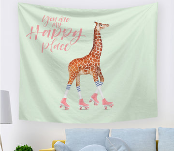 3D Cute Giraffe 2401 Tapestry Hanging Cloth Hang