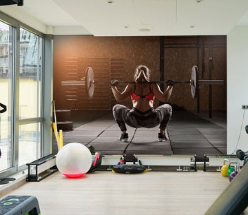 3D Dumbbell Squat 230 Wall Murals