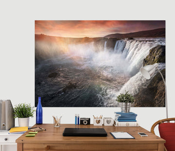 3D Canyon Waterfall 160 Marco Carmassi Wall Sticker