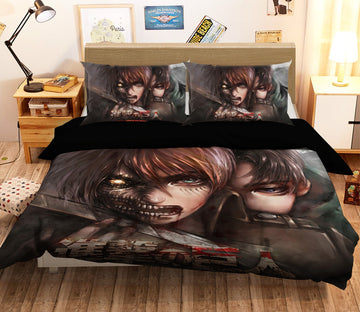 3D Attack On Titan 1649 Anime Bed Pillowcases Quilt Quiet Covers AJ Creativity Home