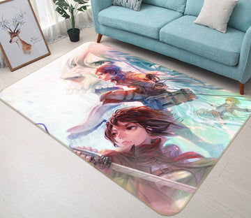 3D Attack on Titan 4989 Anime Non Slip Rug Mat Mat AJ Creativity Home