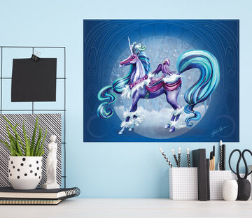 3D Cloud Unicorn 207 Rose Catherine Khan Wall Sticker