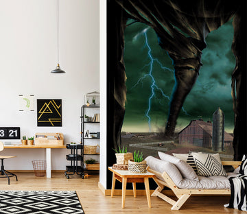 3D Tornado Breakthrough 1562 Wall Murals Exclusive Designer Vincent