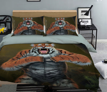 3D Tigerilla 089 Bed Pillowcases Quilt Exclusive Designer Vincent