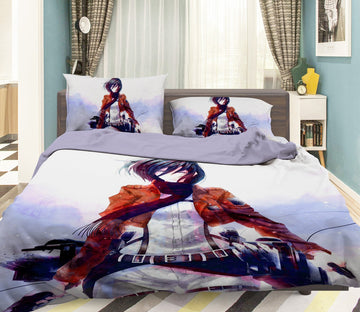 3D Attack On Titan 1637 Anime Bed Pillowcases Quilt Quiet Covers AJ Creativity Home