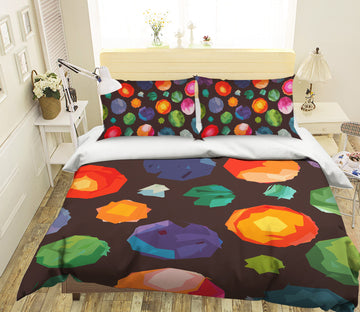 3D Colorful Balloons 2001 Shandra Smith Bedding Bed Pillowcases Quilt