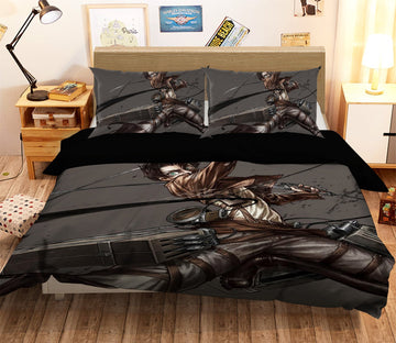 3D Attack On Titan 1628 Anime Bed Pillowcases Quilt Quiet Covers AJ Creativity Home