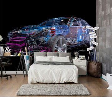 3D Transparent Cars 402 Vehicle Wall Murals