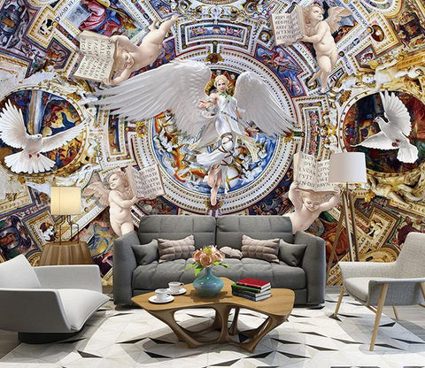 3D Angel Child 111 Wall Murals Wallpaper AJ Wallpaper 2