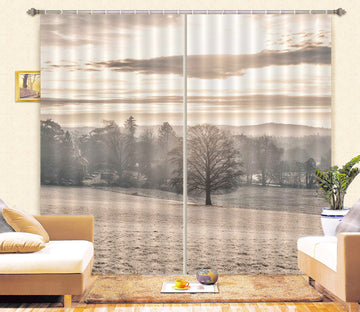 3D Grassland Lonely Tree 089 Assaf Frank Curtain Curtains Drapes