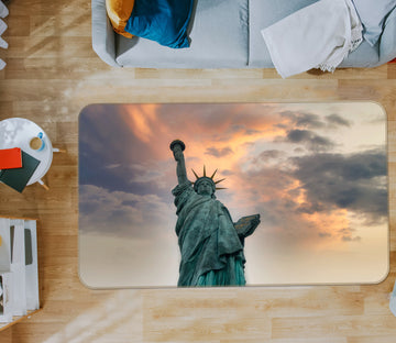 3D Sunset Statue Of Liberty 1128 Studio MetaFlorica Rug Non Slip Rug Mat