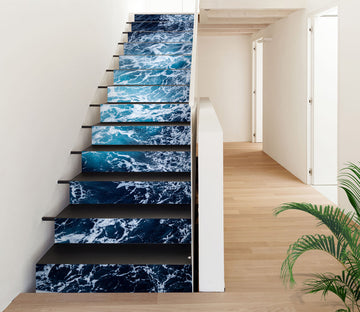 3D Rippled Bautiful Sea Water 621 Stair Risers