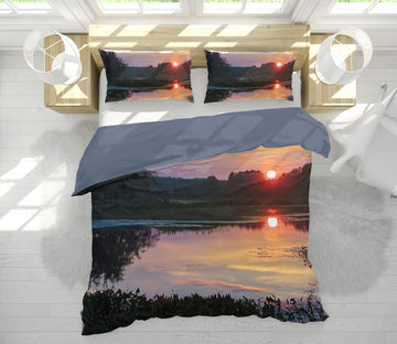 3D Sunset Marsh 1028 Jerry LoFaro bedding Bed Pillowcases Quilt