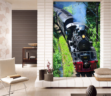 3D Black Train 423 Vehicle Wall Murals