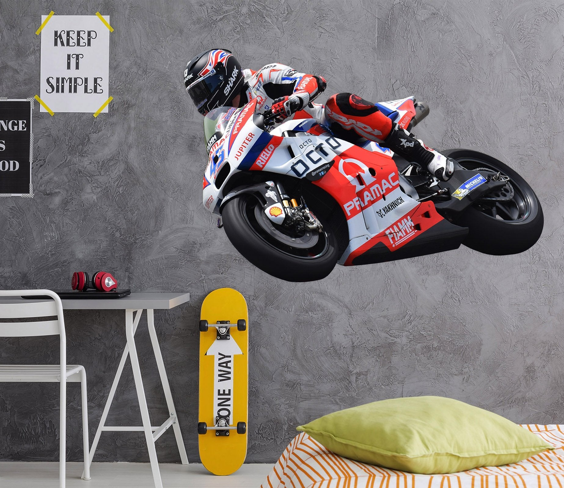 3D Motorcycles RED 0208 Vehicles Wallpaper AJ Wallpaper