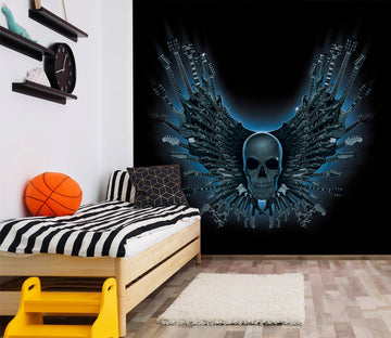 3D Skull Strings 1551 Wall Murals Exclusive Designer Vincent