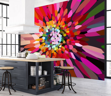 3D Pink Flower Horizontal 71079 Shandra Smith Wall Mural Wall Murals