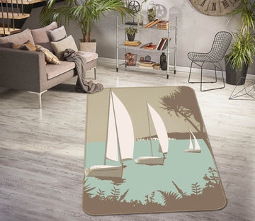 3D Poole The Purbecks 1135 Steve Read Rug Non Slip Rug Mat
