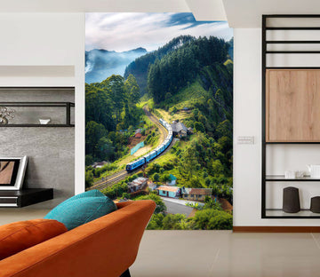 3D Forest Train 440 Vehicle Wall Murals
