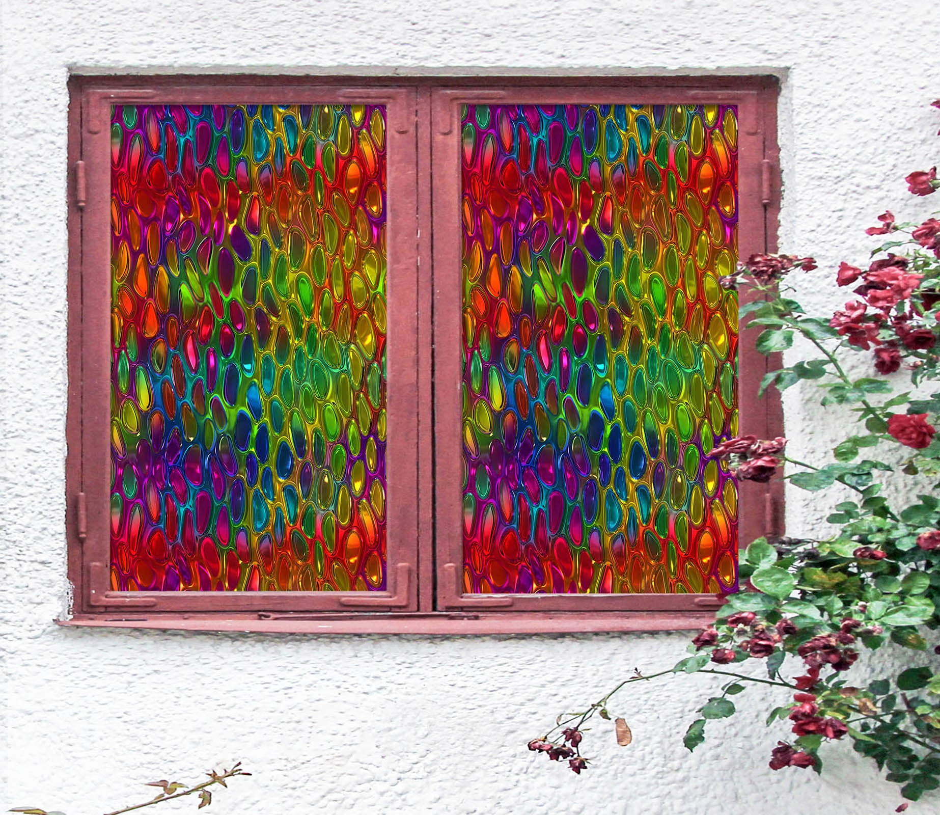 Details about  /3D Golden Prince ZHUA349 Window Film Print Sticker Cling Stained Glass UV