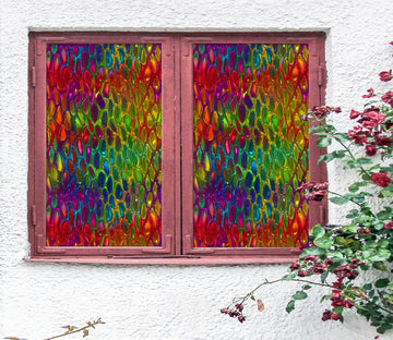 3D Glass Color 199 Window Film Print Sticker Cling Stained Glass UV Block