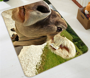 3D Bull Nose 567 Animal Non Slip Rug Mat