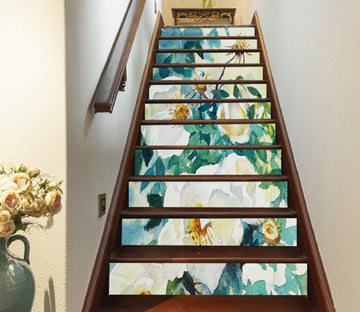 3D Flowers 1250 Stair Risers Wallpaper AJ Wallpaper