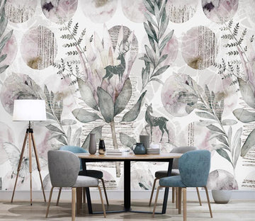 3D Flowers Of Elegant Memory 2584 Wall Murals