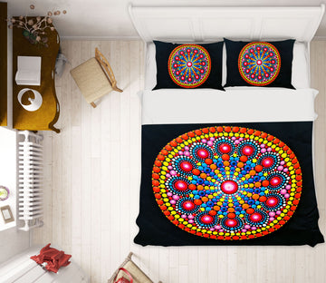3D Circle Pattern 64029 Bed Pillowcases Quilt