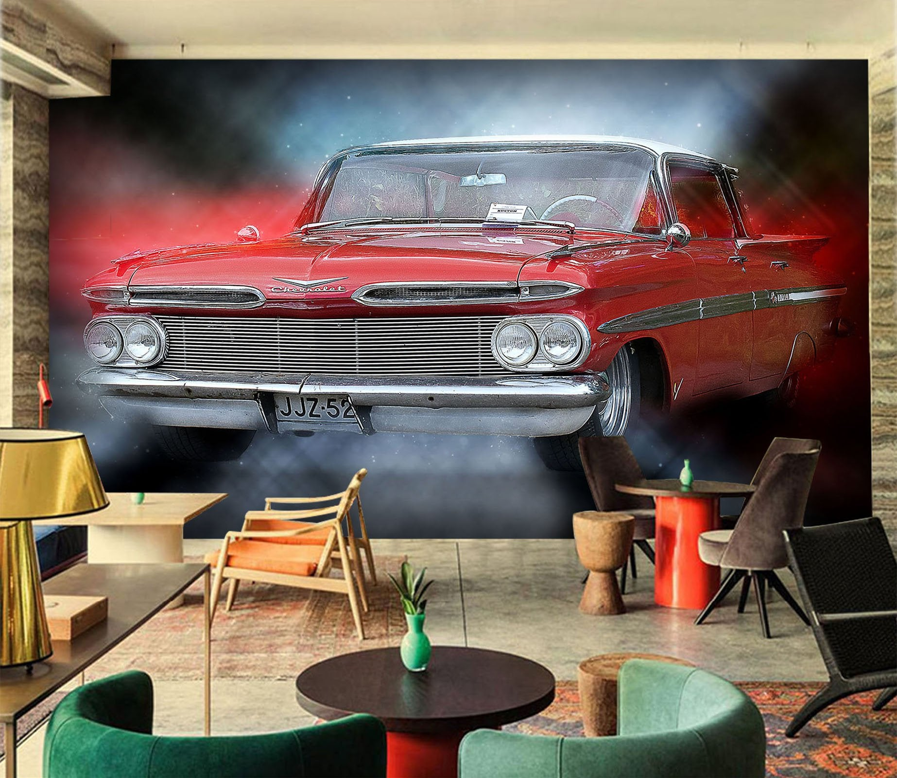 3D Car Light 946 Vehicle Wall Murals Wallpaper AJ Wallpaper 2