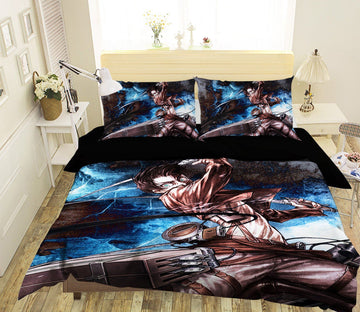 3D Attack On Titan 1272 Anime Bed Pillowcases Quilt Quiet Covers AJ Creativity Home