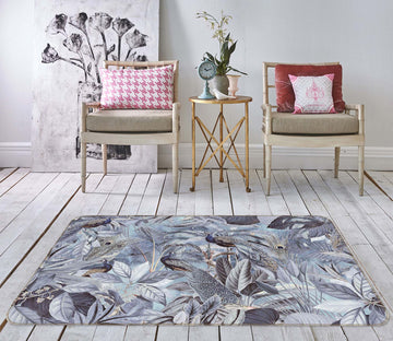 3D Night Leaves 1007 Andrea haase Rug Non Slip Rug Mat