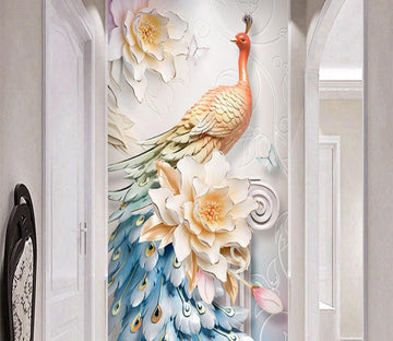 3D Peacock 107 Wall Murals