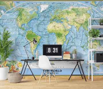 3D World Map 1103 Wall Murals