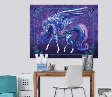 3D Winged Unicorn 203 Rose Catherine Khan Wall Sticker