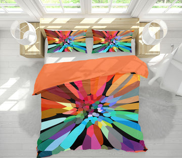 3D Colored Petals 2001 Shandra Smith Bedding Bed Pillowcases Quilt
