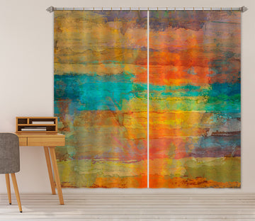 3D Sunset Sea 227 Michael Tienhaara Curtain Curtains Drapes