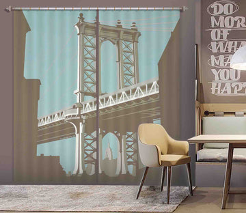 3D New York 124 Steve Read Curtain Curtains Drapes