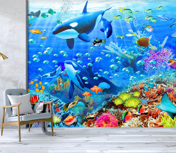 3D The Underwater World 1411 Adrian Chesterman Wall Mural Wall Murals