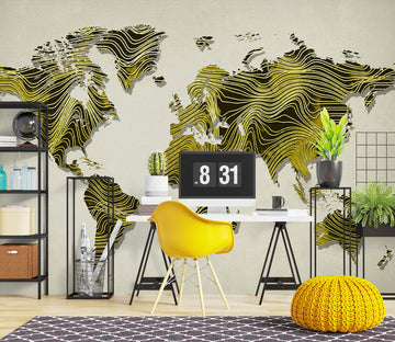 3D Green World Map 1005 Wall Murals